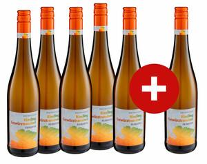 5 + 1 Rheinhessen Riesling Gewürztraminer Qualitätswein, feinherb