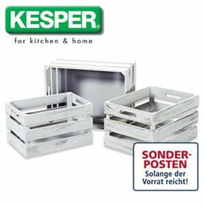 Aufbewahrungsboxen-Set - 3-teilig - in Grau oder Weiß