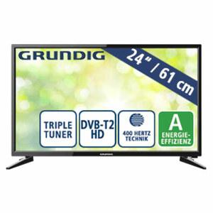 """24""""-LED-HD-TV 24 GHB 600 • Auflösung 1.366 x 768 Pixel • HDMI-/USB-/CI+-Anschluss • Stand-by: 0,4 Watt, Betrieb: 27,1 Watt • Maße: H 33,4 x B 55,5 x T 6,8 cm • Energie-Effizienz A (Spektr"""