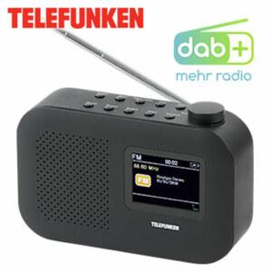 """DAB+-/UKW-Radio RD1006 • 2,4"""" Farbdisplay • PLL-UKW-Radio mit RDS • bis zu 10 h Akkulaufzeit • 3,5-mm-Klinken-Anschluss • integr. Lithium-Akku • Netz- oder Batteriebetrieb"""