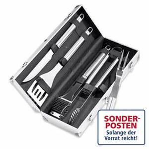 Grillbesteck Kansas 5 teilig im Aluminium-Koffer