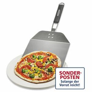 Pizza-Set  bestehend aus: 1 Pizzastein, 1 Pizzaschieber