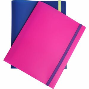 Staples Ordner mit 4 Fächern Polypropylen Pink A4 30er-Pack