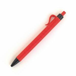 Staples Druckkugelschreiber, roter Schaft mit Griff