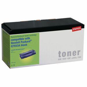 Staples Q7553A, Wiederaufbereiteter Toner, Schwarz, 1er-Pack, 4217226, kompatibel mit HP