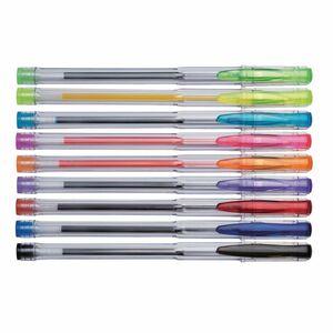Staples Kugelschreiber, Mittelstarke 0,7-mm-Spitze, Transparenter Schaft, Verschiedene Tintenfarben