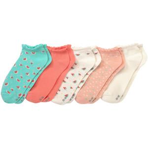 5 Paar Mädchen Sneaker-Socken