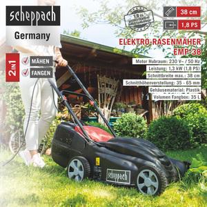 Scheppach Elektro Rasenmäher EMP-38 1.30kW 230V/50Hz