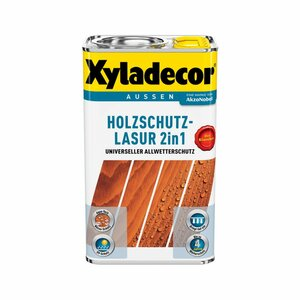 Holzschutzlasur 2in1 ebenholzfarben 5 l