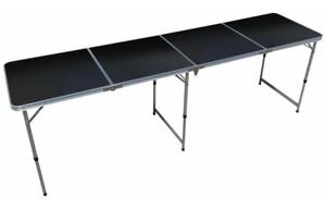 Alu-KLapptisch schwarz ca. 240 x 60 x 53 cm