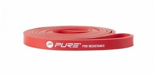 Pure Pro Resistance Band With Pure Logo, Medium, Color Red
