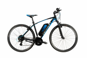 "Devron E-Bike Trekking 28"" black/blue 28161"