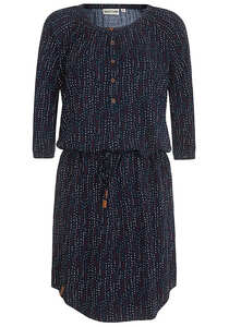 NAKETANO Kermit Der Honk II - Kleid für Damen - Blau