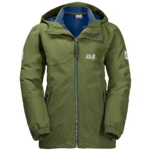 Jack Wolfskin 3-in-1 Hardshell Jungen Boys Iceland 3in1 Jacket 164 grün