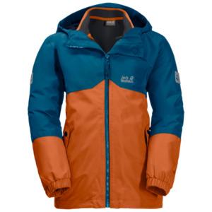 Jack Wolfskin 3-in-1 Hardshell Jungen Boys Iceland 3in1 Jacket 164 orange