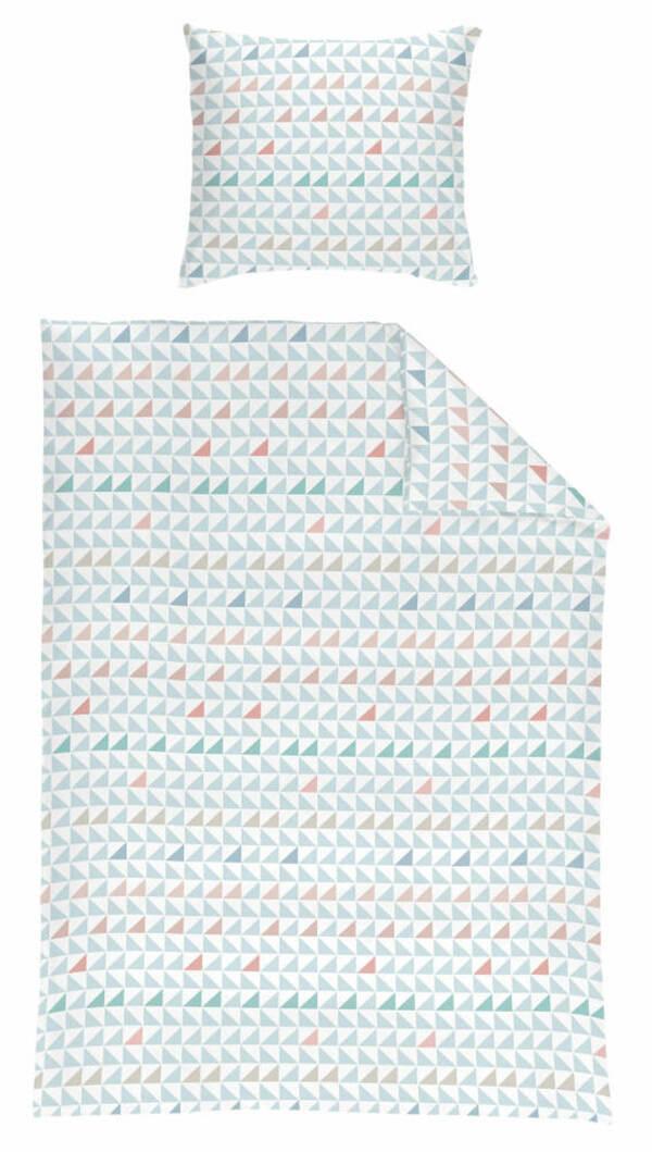 Microfaser Seersucker Bettwäsche 135 X 200 Cm Motiv Dreiecke Von