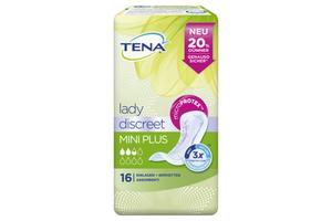 TENA Lady discreet Mini Plus Inkontinenzeinlagen, 16 Stück