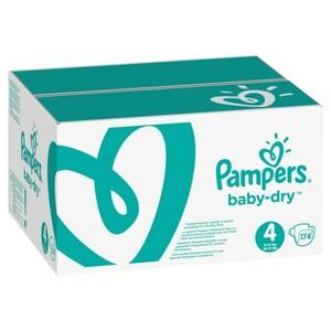 Pampers Baby Dry Gr.4 Maxi 9-14kg MonatsBox, 174 Stück - Größe 4 - 174 Stück
