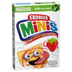 Nestlé Erdbeer Minis Cerealien mit Erdbeergeschmack und Vollkorn 375g