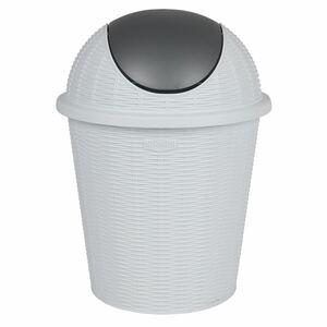 Abfalleimer mit Schwingdeckel Elegance 10L Weiß