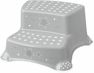 Tritthocker - Sterne - grau
