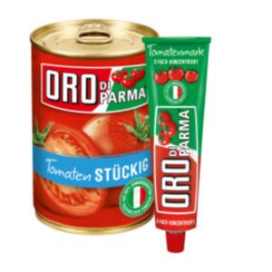 Oro di Parma Tomatenmark, Tomaten oder Sauce