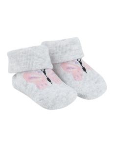 Newborn Socken mit Motiv-Stickerei