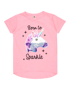 Mädchen T-Shirt mit Emoji-Motiv