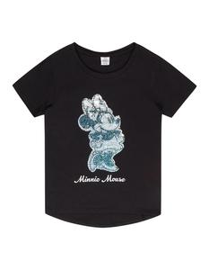 Mädchen T-Shirt mit Minnie Mouse aus Wende-Pailletten