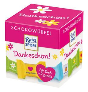 "RITTER SPORT             Schokowürfel ""Danke schön"", 176g+2 Würfel gratis"
