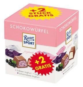 RITTER SPORT             Schokowürfel Joghurt, 176g+2 Würfel gratis