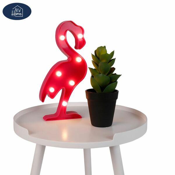 LED-Dekofigur Flamingo 13x29,5x3cm Warmweiß