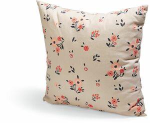 Dekor Muttertag Dekokissen - Eckig - Dainty Flowers Grey Pink
