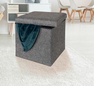Dekor Sitz- und Aufbewahrungshocker - grau