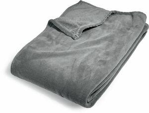 Mikrofaserdecke ca. 150 x 200 cm - Grau