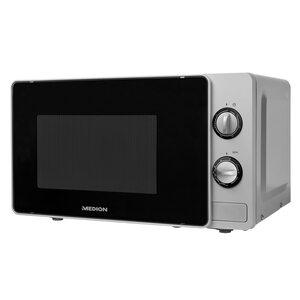 MEDION 2in1 Mikrowelle MD 18691, Kombination aus Mikrowelle und Grill, 5 Leistungsstufen, Auftaufunktion