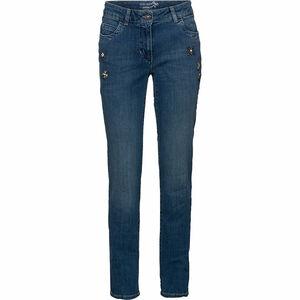 Gerry Weber Collection Damen Jeans mit Steinchen-Applikationen, jeansblau, 44