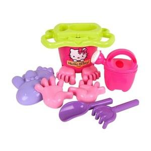 Simba - Sandspielzeug-Set Hello Kitty mit Eimer, 8-tlg.