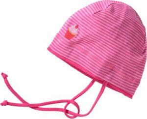 Topfmütze zum Binden Gr. 51 Mädchen Kleinkinder