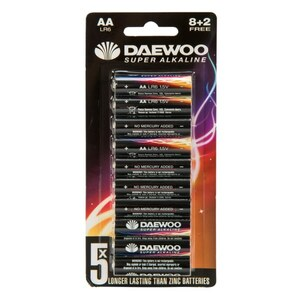 Daewoo - Batterie Alkaline AA, 10 Pack