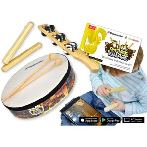 Voggenreiter - Rhythmic Village mit Trommel-Set
