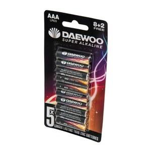 Daewoo – Batterie Alkaline AAA, 10 Pack