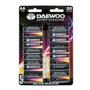 Daewoo - Batterie Alkaline AA, 20 Pack