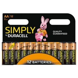 Duracell - Batterie Simply AA, 12 Pack