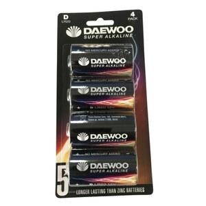 Daewoo - Batterie Alkaline D, 4 Pack