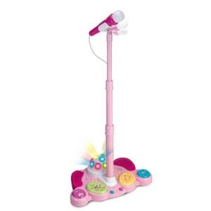 Super Star - Standmikrofon, pink
