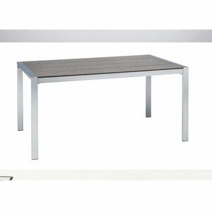 "Haveson              Gartentisch ""Bologna"", 160x74x90 cm, Aluminium, Edelstahloptik, anthrazit"