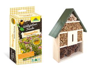 Insektenhotel mit Wildgärtner Freude Bienengarten