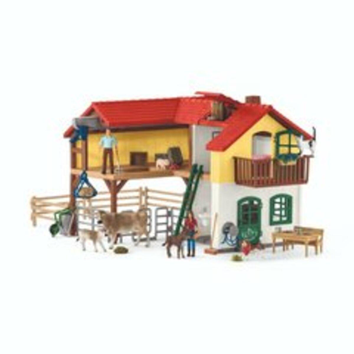 Bild 2 von Schleich - 42407 Bauernhaus mit Stall und Tieren