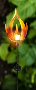 Globo LED Solarleuchte ,  Flammenoptik